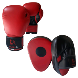 Boxing Gloves & Pads Set Focus Punching MMA Mitts Training Sparring Ja
