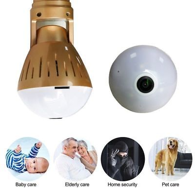 360  Panoramic Hd 1080P Hidden Wifi Camera Light Bulb Security Ip Spy Camera Fit