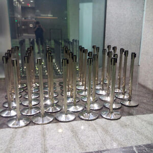 STAINLESS STEEL STANCHIONS- 10.5 FT BELT - 75.00 EACH