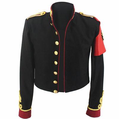 MJ Michael Jackson Black Royal Retro Military Jacket Outwear Amsterdam in 1996's