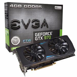 EVGA Nvidia GeForce GTX970 FTW  4gigs