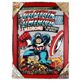 Captain America Glass Mirror Marvel Comics Licensed 45cm x 32.5cm
