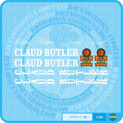 Claud Butler Bicycle Decals Transfers Stickers Set 6