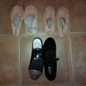 BLOCH Tap shoes and BLOCH ballet slippers