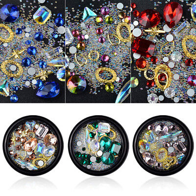 DIY Nail Art Decorations Clear Rhinestone Drills Fairy Charms Dance Party Slices
