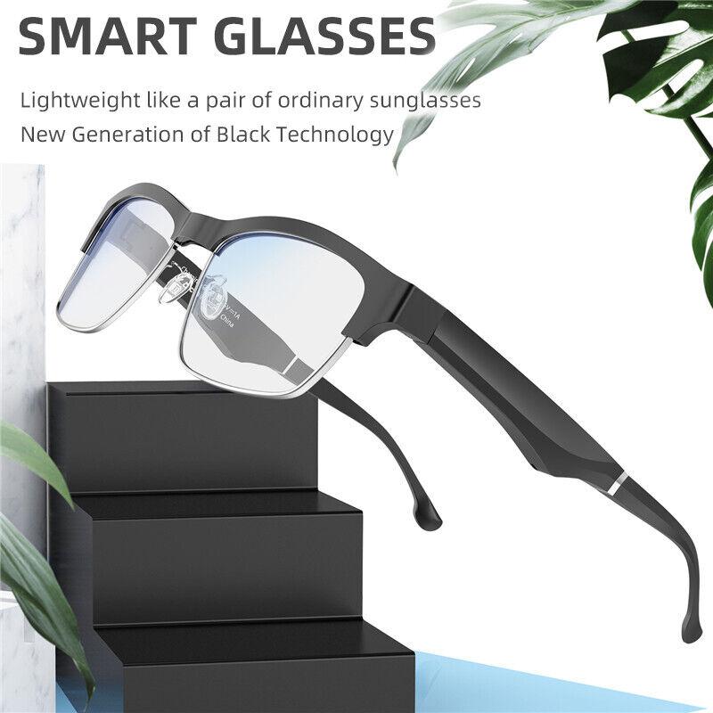 Bluetooth 5.0 Smart Glasses Hand Free Music Earphone Anti-blue Light Eyeglass