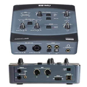 E-MU 0404 USB 2.0 AUDIO / MIDI INTERFACE