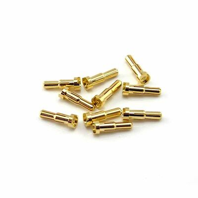 HobbyStar 4mm to 5mm Low-Profile Bullet Connectors, 10pk Adapter Plugs USA SHIP - Low Profile Connectors