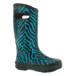 Girls Size 1 Turquoise Zebra Bogs Boots