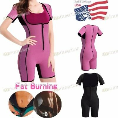 Women Neoprene Full Body Shaper Ultra Sweat Weight Loss Yoga Bodysuit Sauna Suit