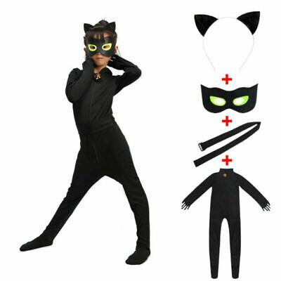 Miraculous Ladybug Katze Cat Noir Adrien Agreste Karneval Kostüm Mädchen Kinder