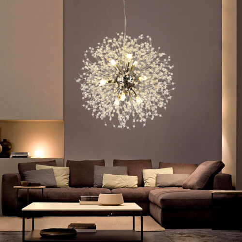 Modern Dandelion Sputnik Chandelier Fireworks LED Ceiling Pe