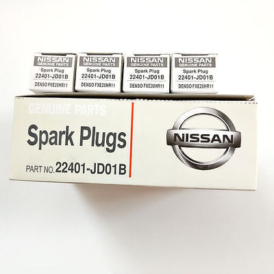 New 4Pcs 22401-JA01B Iridium Spark Plugs for Altima Cube Rogue Sentra FXE20HR11