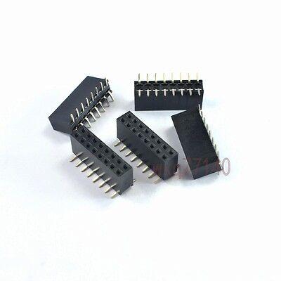 20pcs 0.12.54mm Pitch 2x8 16 Pin Smtsmd Female Double Row Header Strip Diy