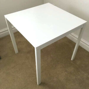 Like New IKEA MELLTORP Dining Table (white) and TARNO Chairs