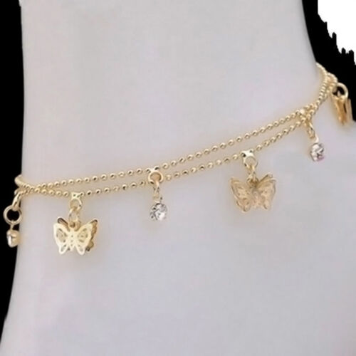 Women Charm Gold Butterfly Ankle Chain Anklet Bracelet Foot