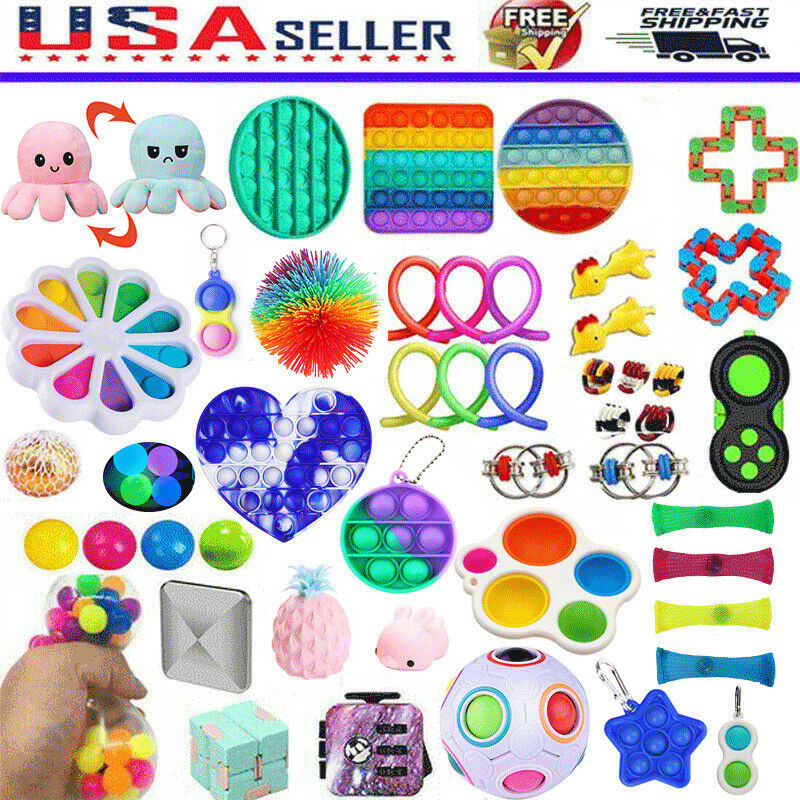 US 1-25pcs Fidget Toys Sensory Tools Bundle Stress Relief Hand Toy Anti-Anxiety