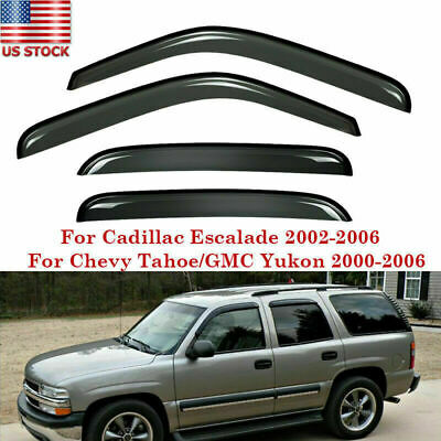 Fit 00-06 Cadillac Escalade Chevy GMC KLD08 Front&Rear Window Visor Vent Cover