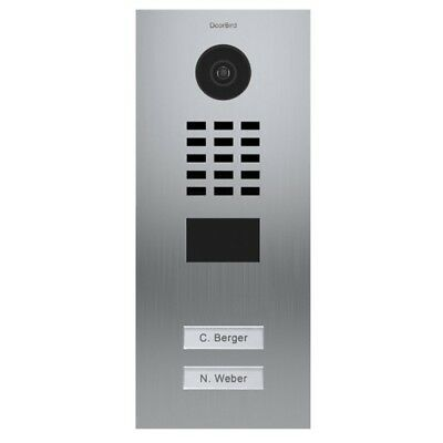 DOORBIRD - D2102V Outdoor Flush Mounted Video Door Station (2 Call Buttons)