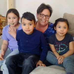 Mother of three new adopted children looking for house in summer