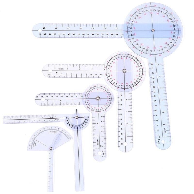 Medical Spinal Ruler Finger Goniometer Angle Protractor 12/8/6 Inch Rule hwEXNA