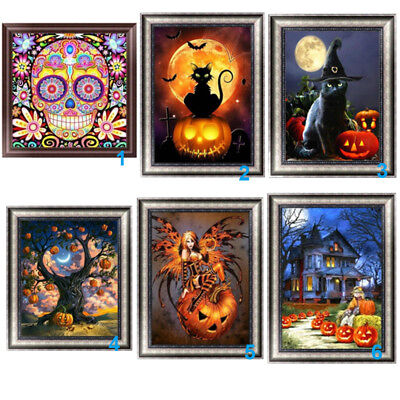 Halloween Theme 5D Diamond Painting DIY Embroidery Cross Stitch Home Decor Craft](Diy Halloween Decoration)