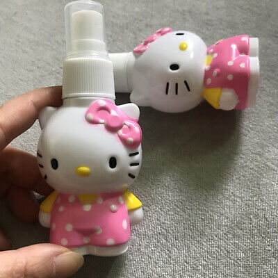 2pcs/set Cute Hello Kitty PET Empty Press Spray Bottle Cosmetic Travel Container