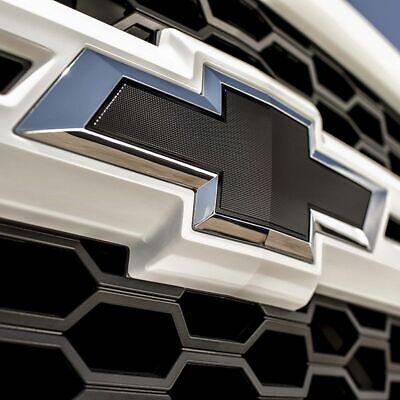 Front Grill Bowtie Black For GM Chevy Chevrolet Silverado Emblem NEW