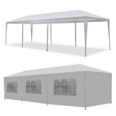 2x Event White Outdoor Wedding Party Tent Patio Gazebo Canopy w/ Side Walls Awnings & Canopies