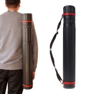 Flexible Black PE Carrier Storage Tube Case for Carry Document Blueprint Artwork