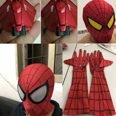 Amazing Spider-Man 2/1 Mask/Gloves/Web Shooter Halloween Cosplay Decorate Props