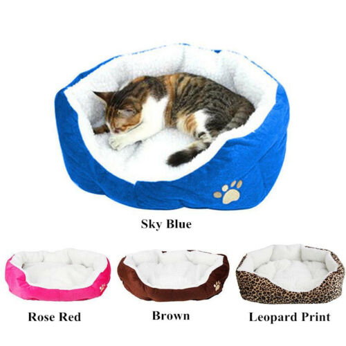 Small Medium Dog Cat Bed House Soft Warm Fleece Cozy Cushion