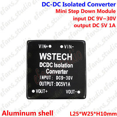 Dc-dc Buck Step Down Isolated Converter 9-30v 12v 24v To 5v 1a Voltage Regulator