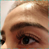 Eyelash extensions or lift and tint $55