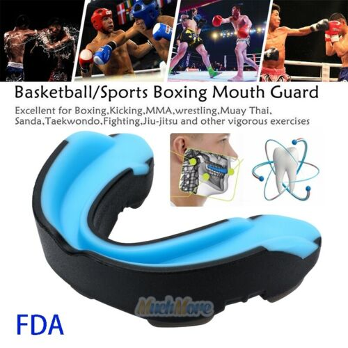 Gel Gum Mouth Guard Shield Case Teeth Grinding Boxing MMA Sp