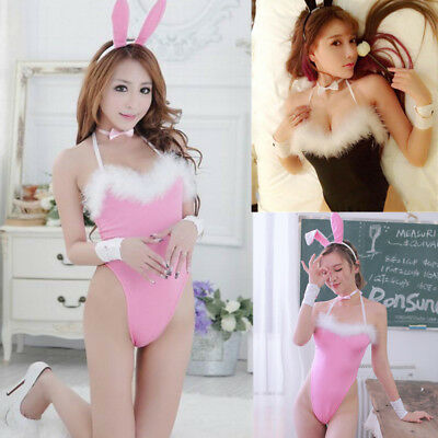 Sissy Costume (Sexy/Sissy Women Bunny Play Costume Cosplay Babydoll Outfit Nightwear)