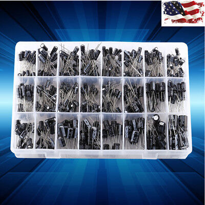 500x 24 Values Aluminum Electrolytic Capacitor Assorted Kit 10v50v 0.1uf-1000uf