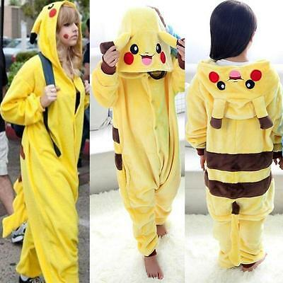 Pikachu Nachtwäsche Unisex Onesie Kigurumi Cosplay Kostüme Tier Pyjama Robe 2019 (Unisex Kostüme)