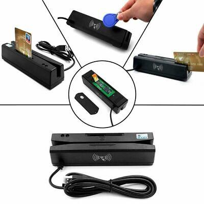 New 4 In 1 Magnetic Stripe Card Emv Ic Chip Rfid Psam Reader Writer Zcs160