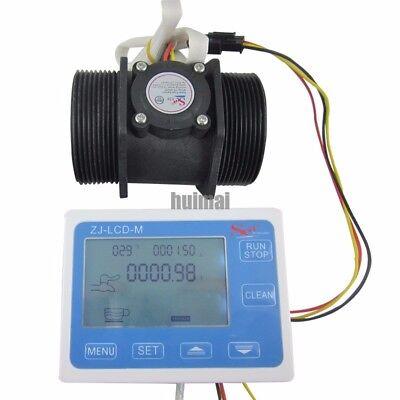 G2 2 Inch Flow Water Sensor Meterlcd Display Quantitative Control 5-300lmin