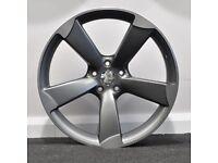 """19"""" TTRS Style Concave Alloy Wheels & Tyres. Suit Audi A4, A5 & A6. (5x112)"""