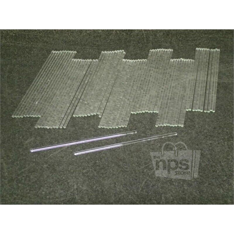 Pack of 72 Fisher Scientific 11380C Glass Stirring Rods, 200mm L x 5mm Dia.