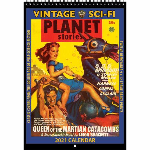 2021 VINTAGE SCI-FI CALENDAR by Asgard Press