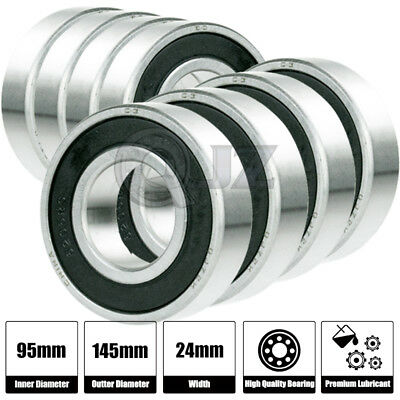 8x 6019-2rs Ball Bearing 95mm X 145mm X 24mm Rubber Seal Premium Rs 2rs New