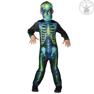 RUB 2630707 Kinder Kostüm Halloween Neon Skeleton Skelett Kinderkostüm ()