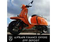 Royal Alloy GP 200 ABS LC Modern Classic Retro Automatic Moped Scooter For Sa...