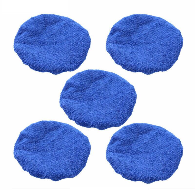 "1//5pcs Microfiber Car Polishing Waxing Polisher Bonnet Buffing Pad Cover 5""-10/"""