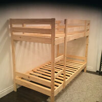 IKEA bunk bed frame only no mattresses.