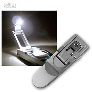 led liseuse avec piles liseuse plafonnier clip de livre livre lumi re lampe ebay. Black Bedroom Furniture Sets. Home Design Ideas