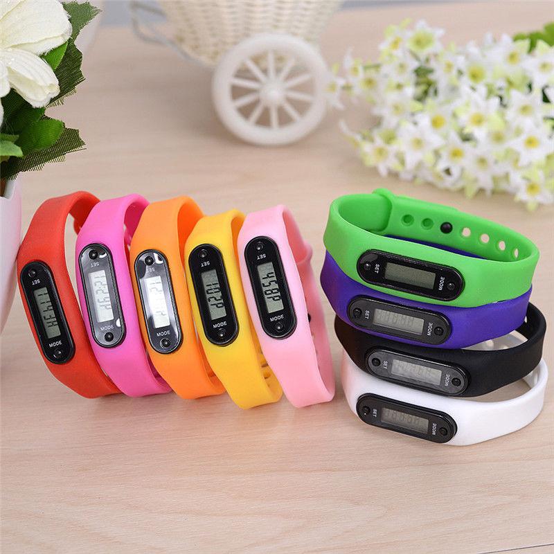 Neu Kinder Aktivität Verfolger Smart Pedometer Schrittzähler Fitness-Armbanduhr